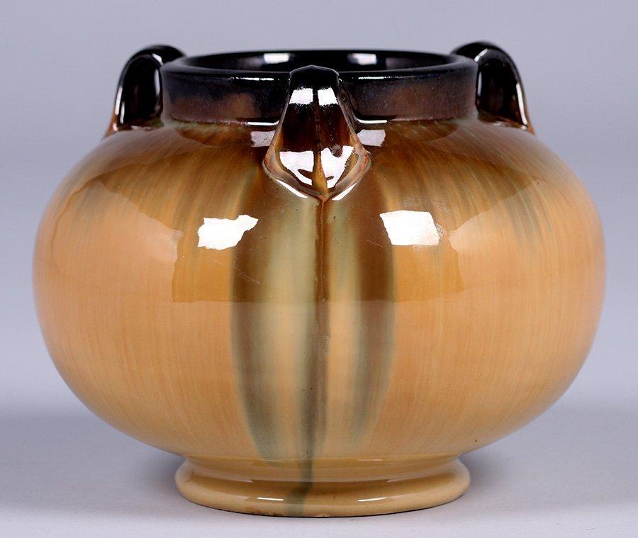 Fulper Pottery Spherical 3-Handle Vase