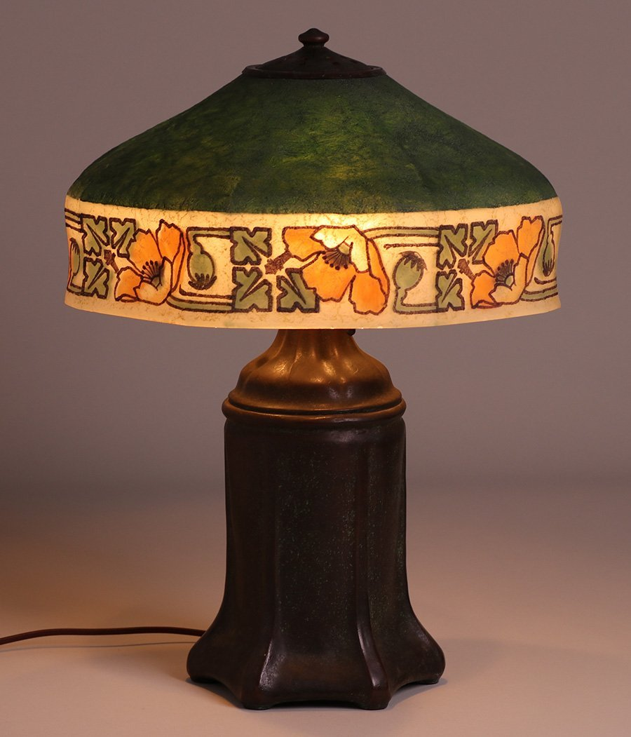 Handel California Poppy Reverse-Painted Lamp