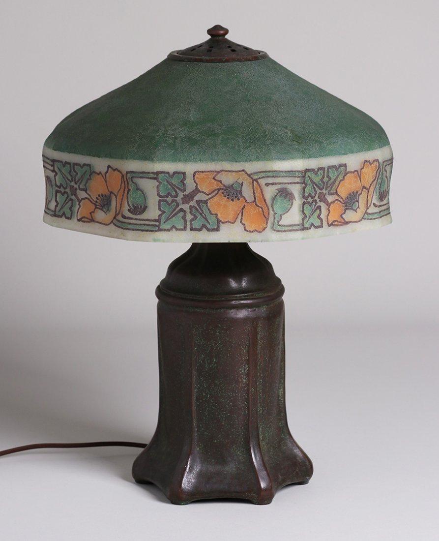 Handel California Poppy Reverse-Painted Lamp - 2