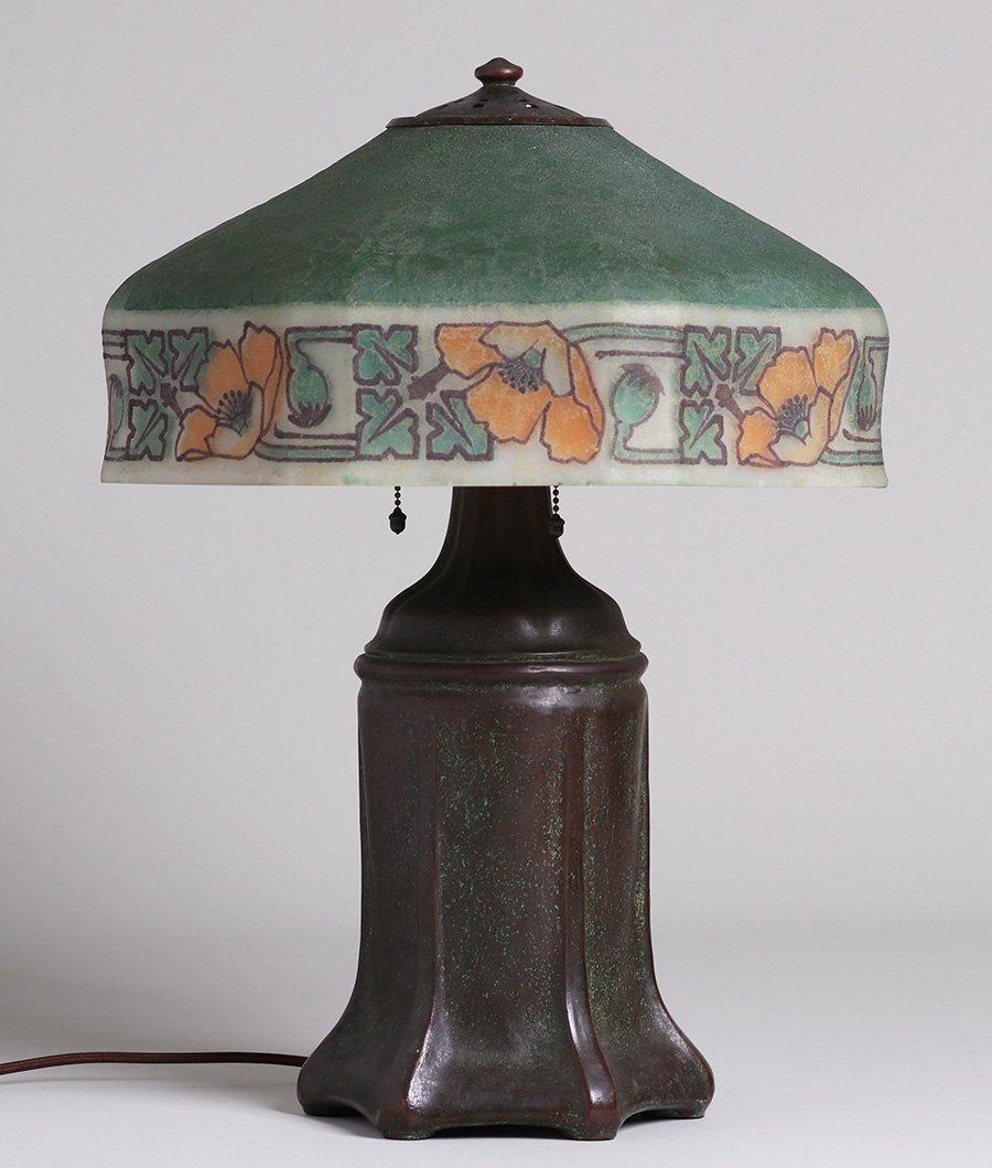 Handel California Poppy Reverse-Painted Lamp - 3