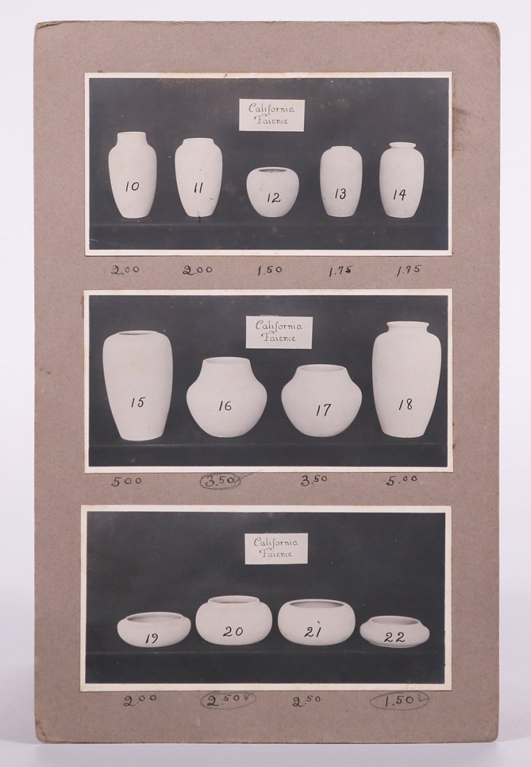 Salesman's Catalog of California Faience Shapes c1918 - 2