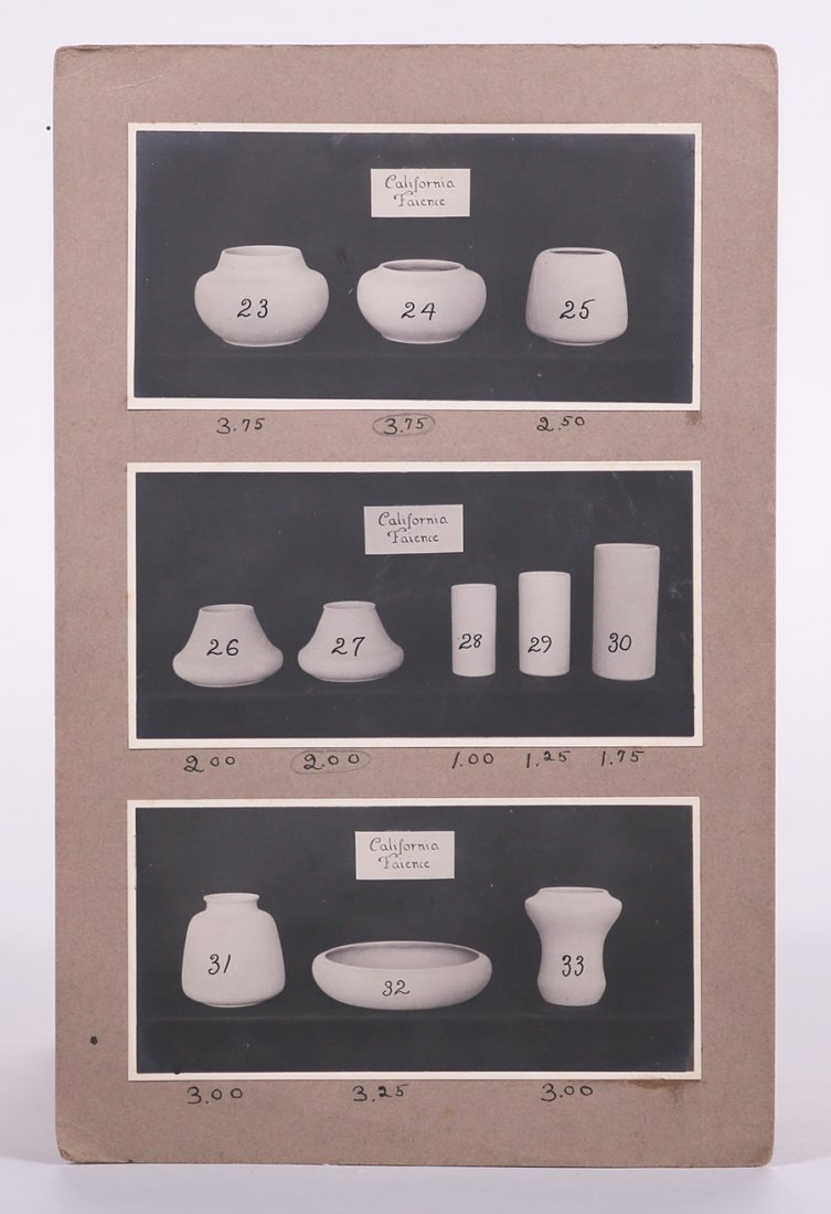 Salesman's Catalog of California Faience Shapes c1918 - 4