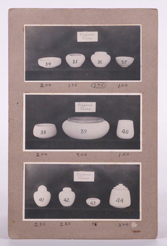 Salesman's Catalog of California Faience Shapes c1918 - 6