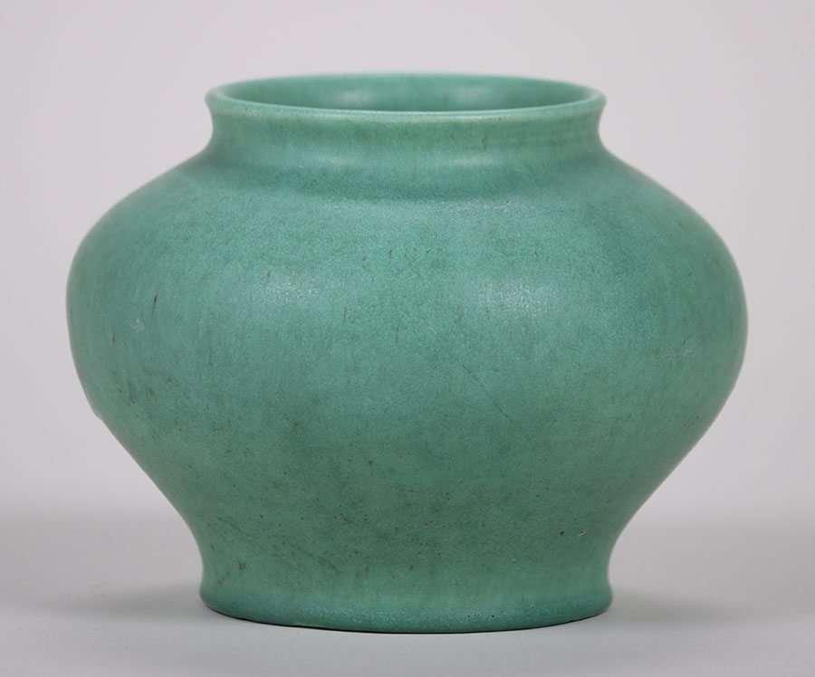 Alfred University Matte Green Vase c1923 Charles Binns