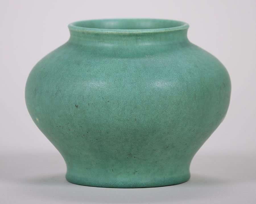 Alfred University Matte Green Vase c1923 Charles Binns - 2