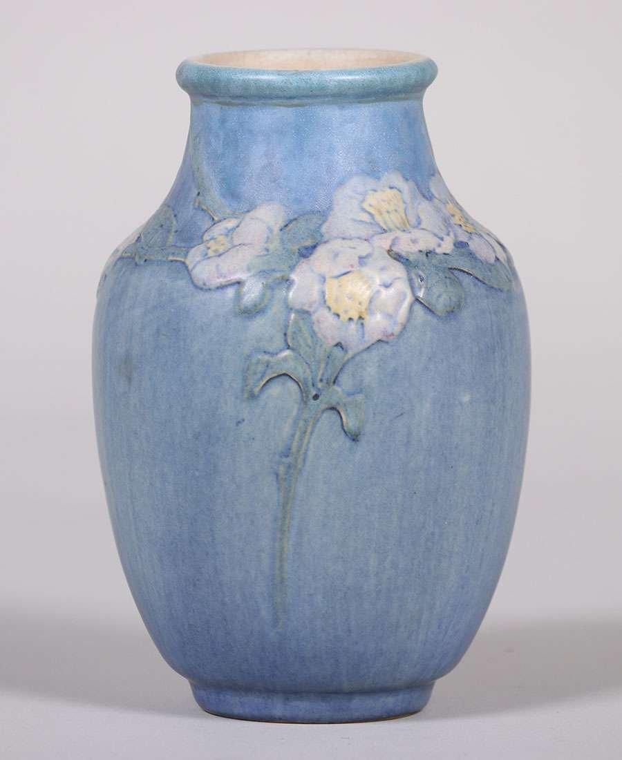 Newcomb College Floral Vase Anne Frances Simpson c1916