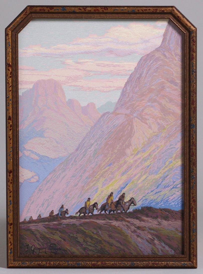 Fred Grayson Sayre Serigraph c1910-1920