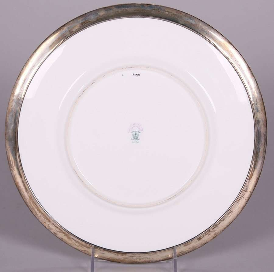 Shreve & Co Sterling Silver Border A&C Plate - 3