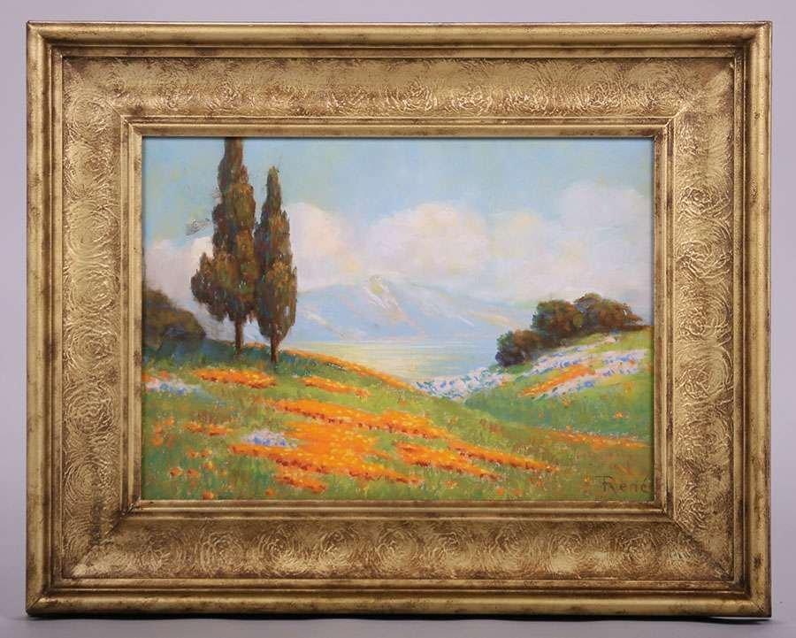 Classic California Landscape Pastel c1910 - 2