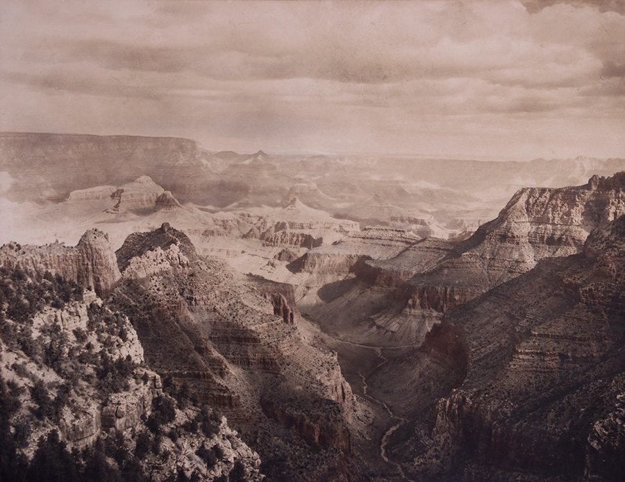 Grand Canyon Sepia Tone Photo c1910s