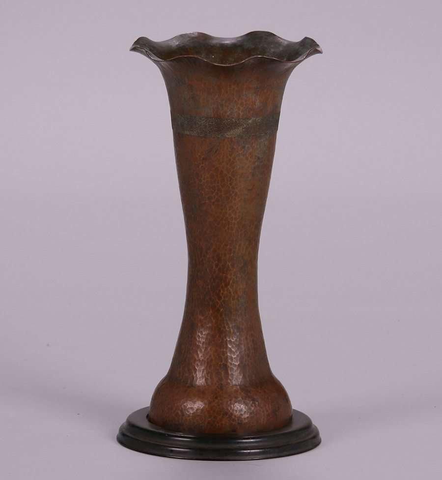 Dirk van Erp Hammered Copper Vase c1902-1908 Vallejo