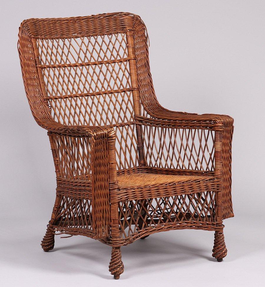 Gustav Stickley Willow Armchair #58 c1910