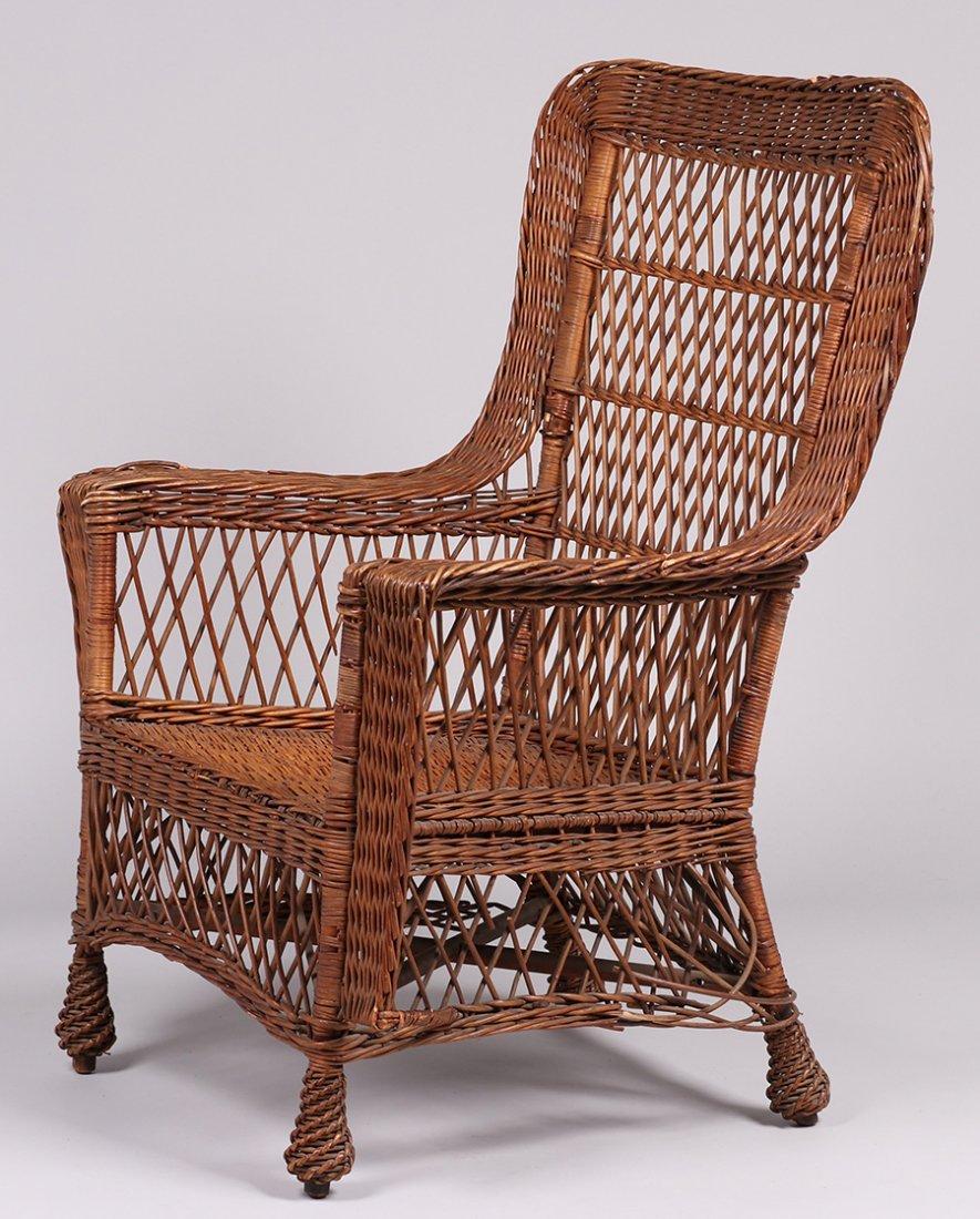 Gustav Stickley Willow Armchair #58 c1910 - 2