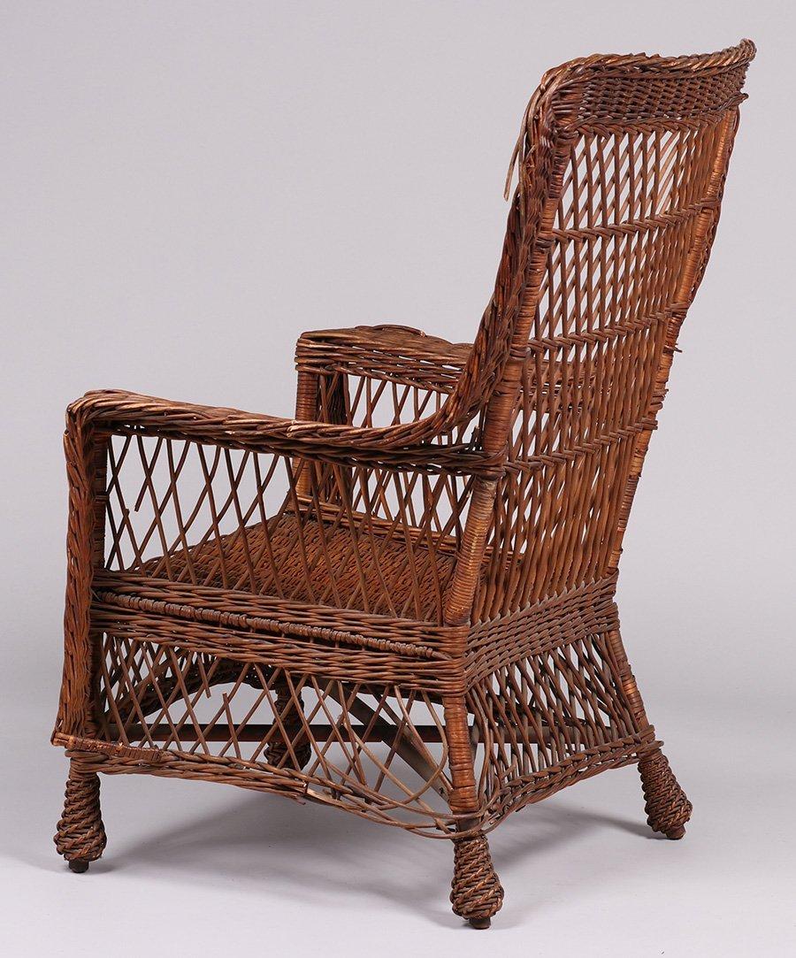 Gustav Stickley Willow Armchair #58 c1910 - 3