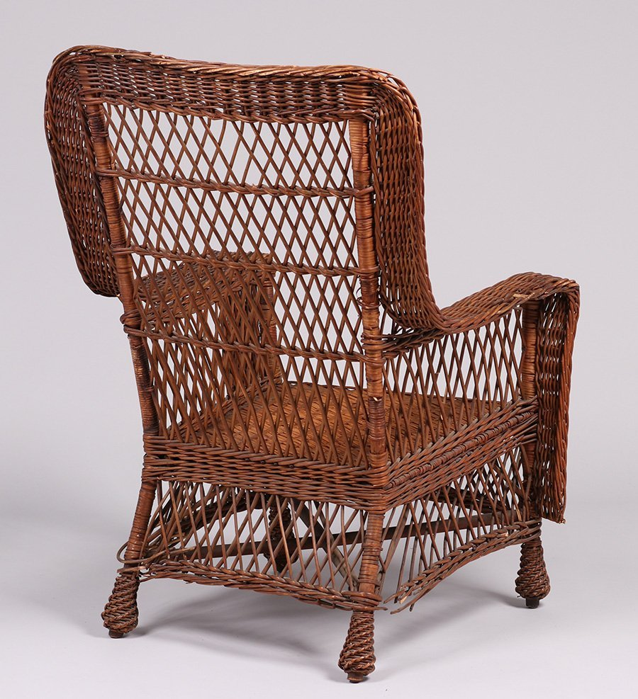 Gustav Stickley Willow Armchair #58 c1910 - 4
