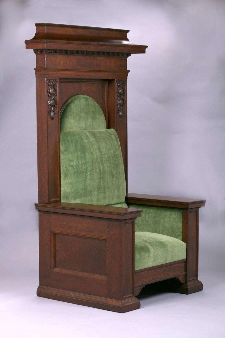 Mathews Furniture Shop Throne Chair c1912