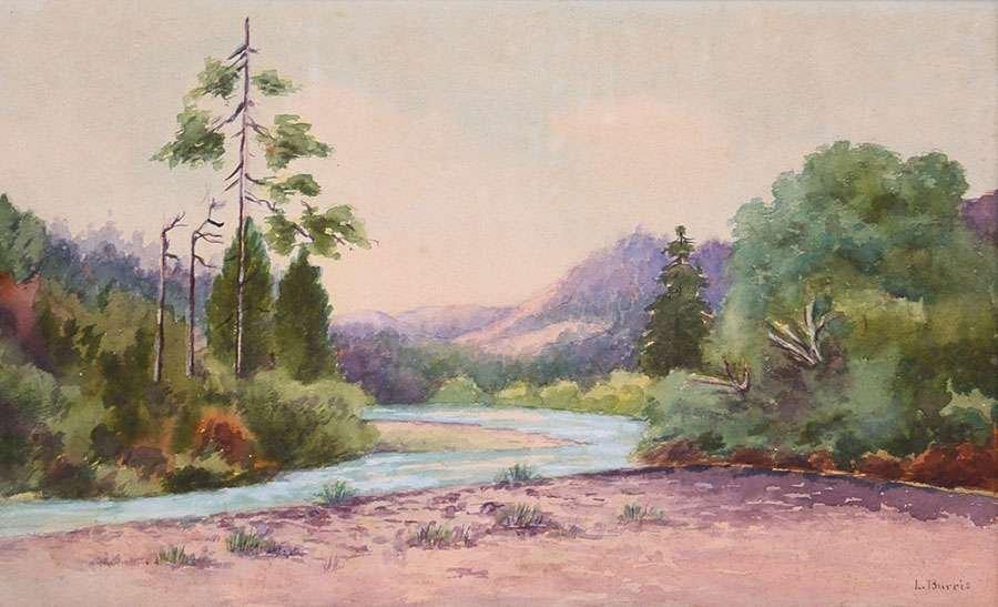 L. Burris Watercolor Russian River