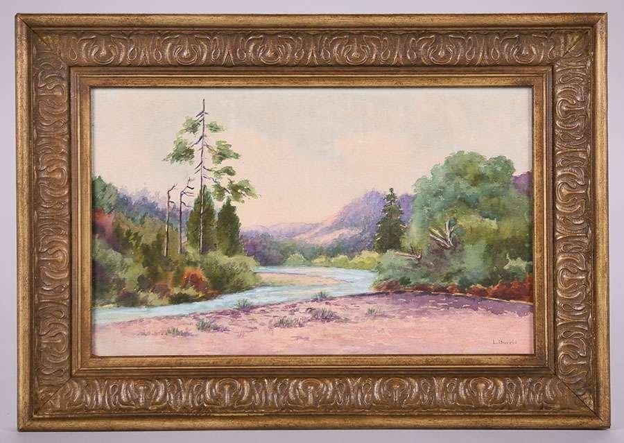 L. Burris Watercolor Russian River - 2