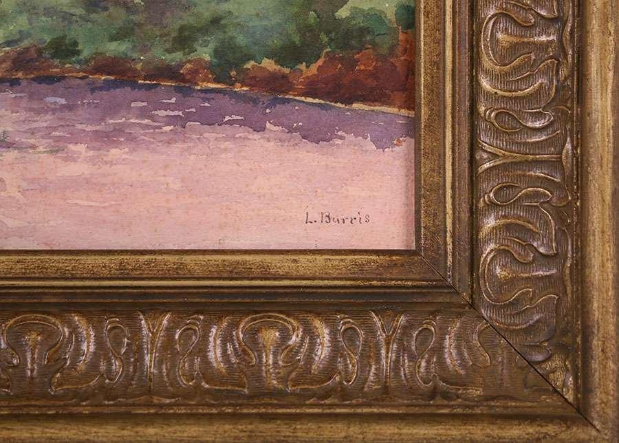 L. Burris Watercolor Russian River - 3