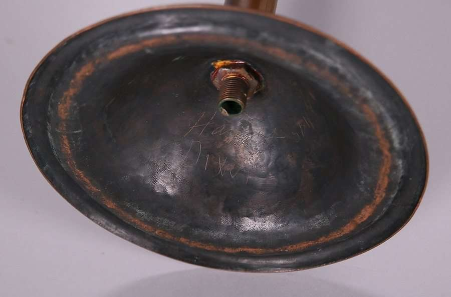 Harry Dixon Hammered Copper Tall Candlesticks c1923 - 3