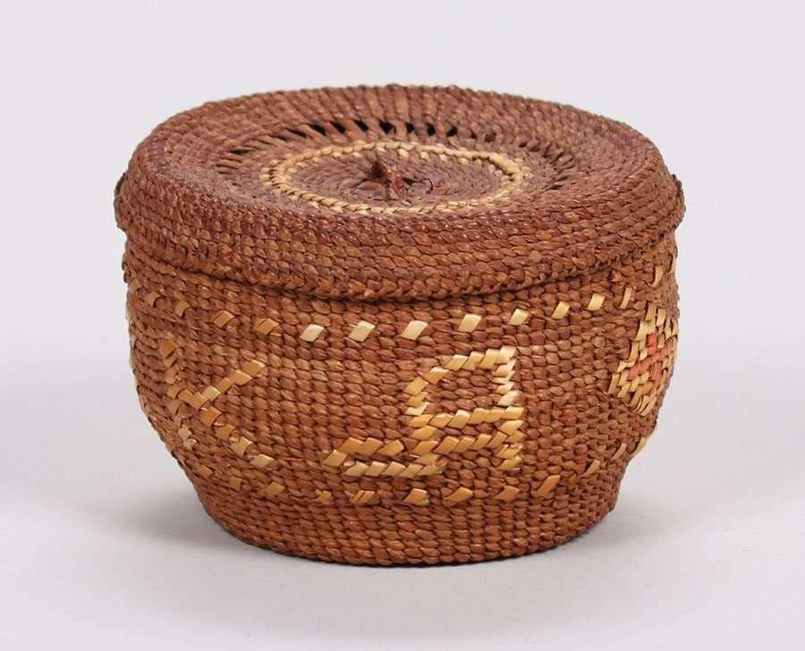 "Native American ""Alaska"" Basket c1900-1920 - 3"