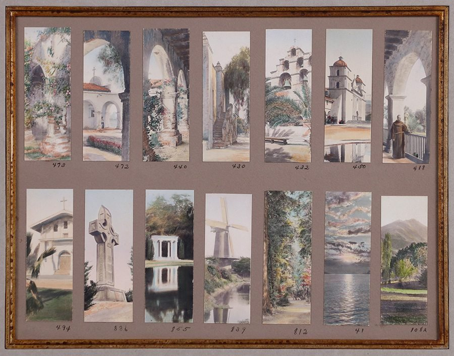 Two Frederick W. Martin Tinted Photo Sample Boards - 3