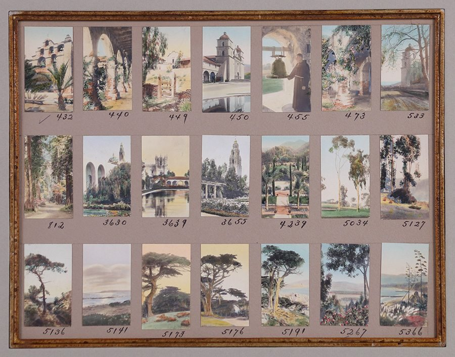 Two Frederick W. Martin Tinted Photo Sample Boards - 4