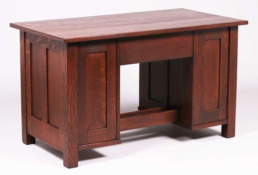 Stickley Brothers 8-Drawer Paneled Desk - 2
