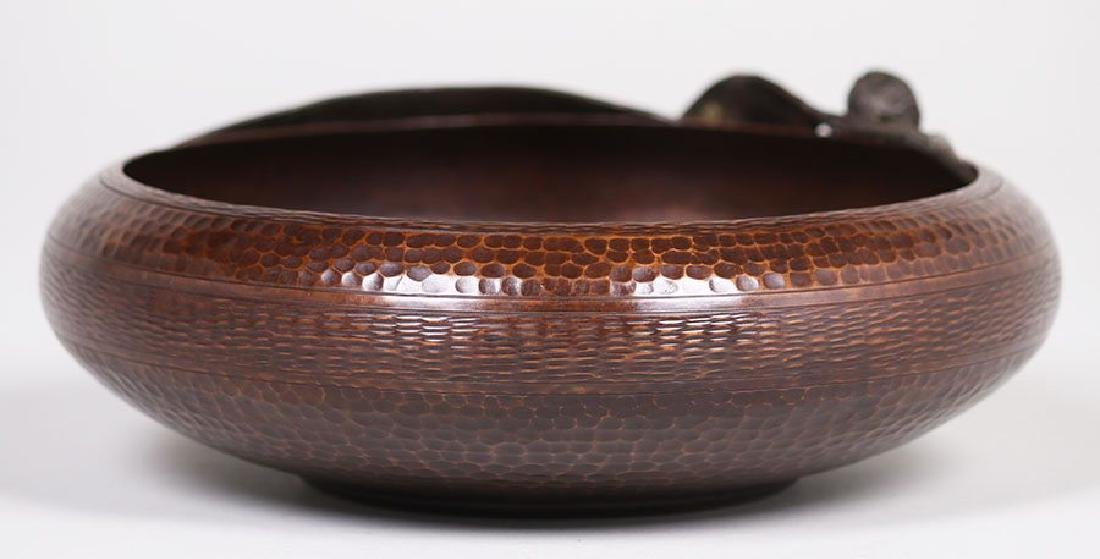 Old Mission Kopper Kraft Hammered Copper Bowl - 3