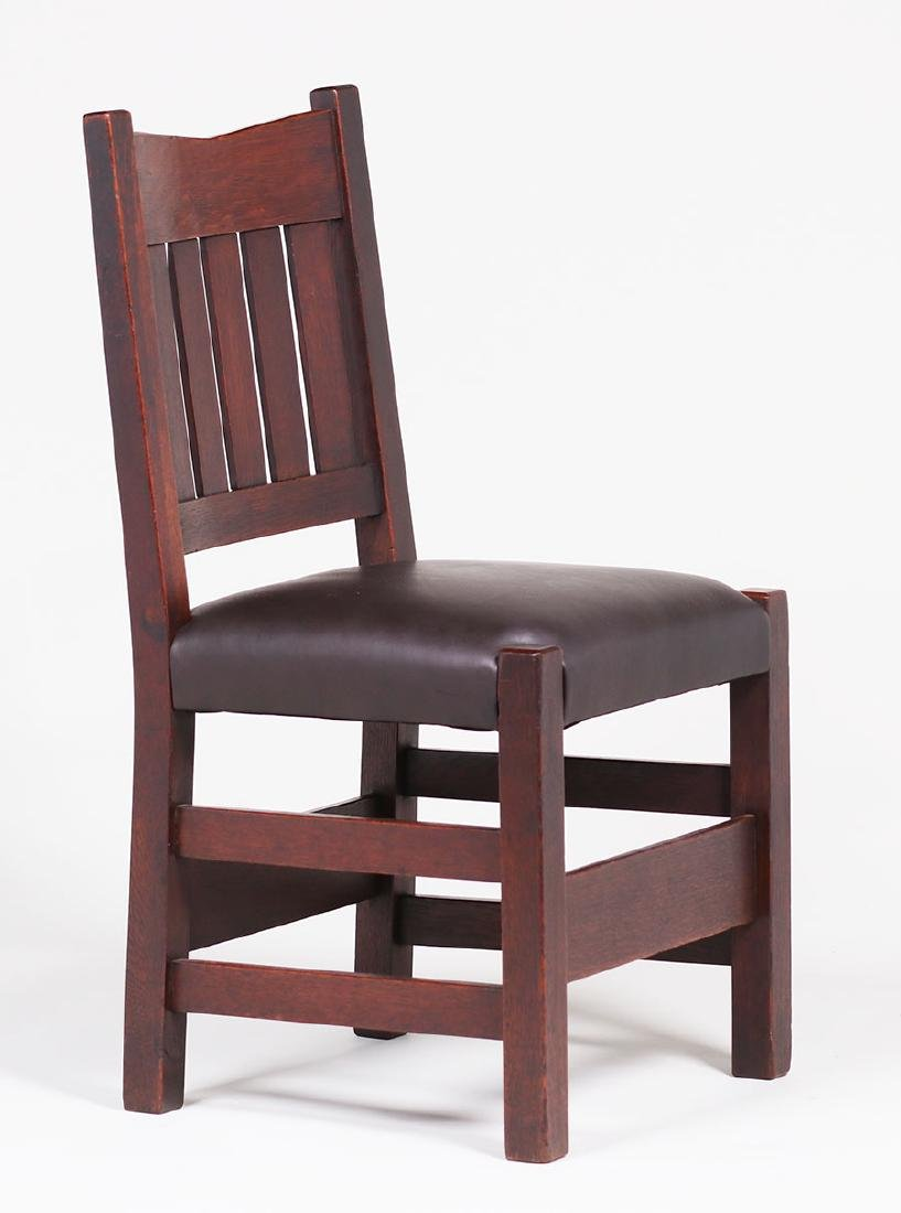 Set of 4 Gustav Stickley V-back Side Chairs - 3