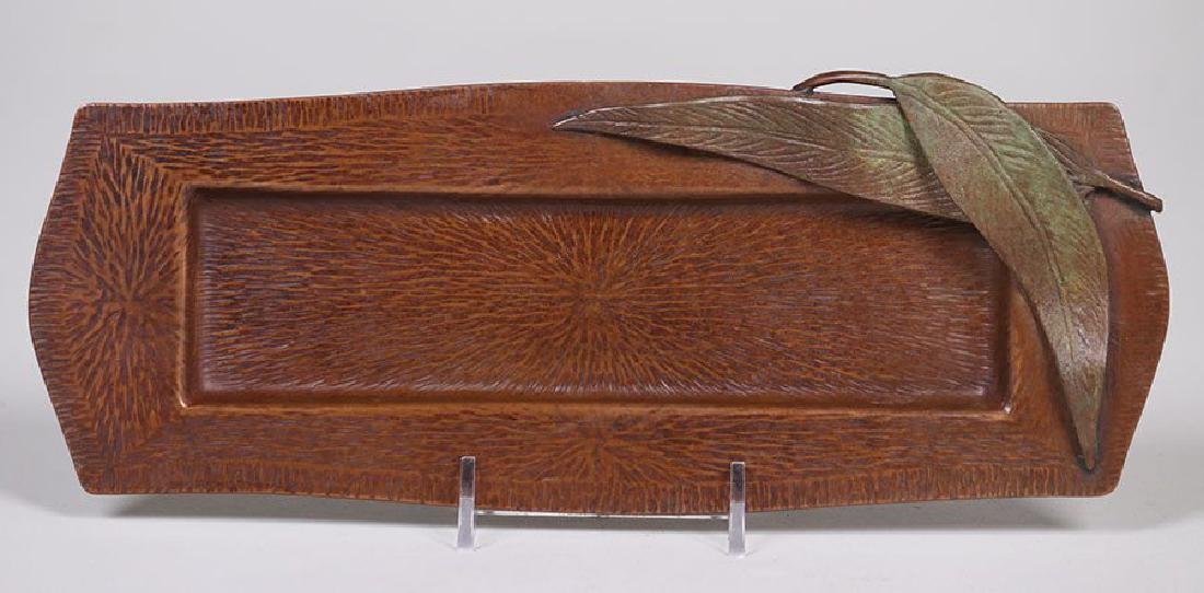 Fred Brosi Radial Hammered Copper Pen Tray