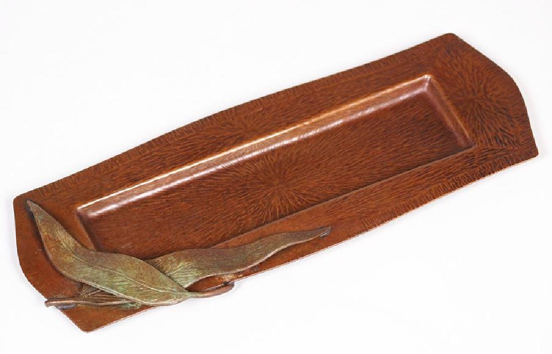 Fred Brosi Radial Hammered Copper Pen Tray - 2