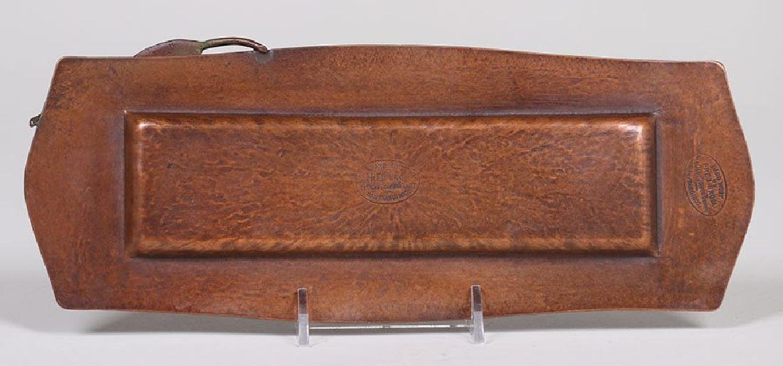 Fred Brosi Radial Hammered Copper Pen Tray - 3