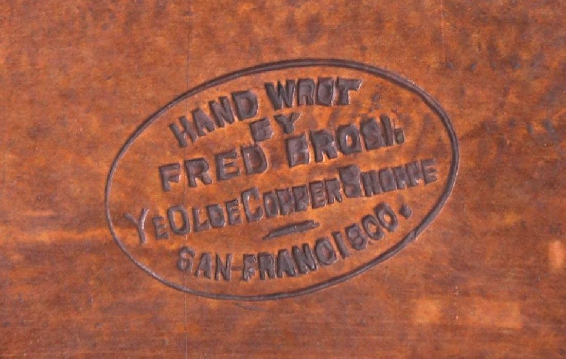 Fred Brosi Radial Hammered Copper Pen Tray - 4