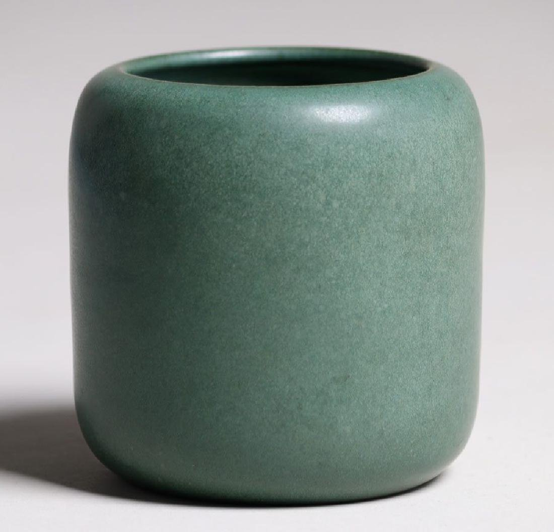 Marblehead Pottery Matte Green Cylinder Vase