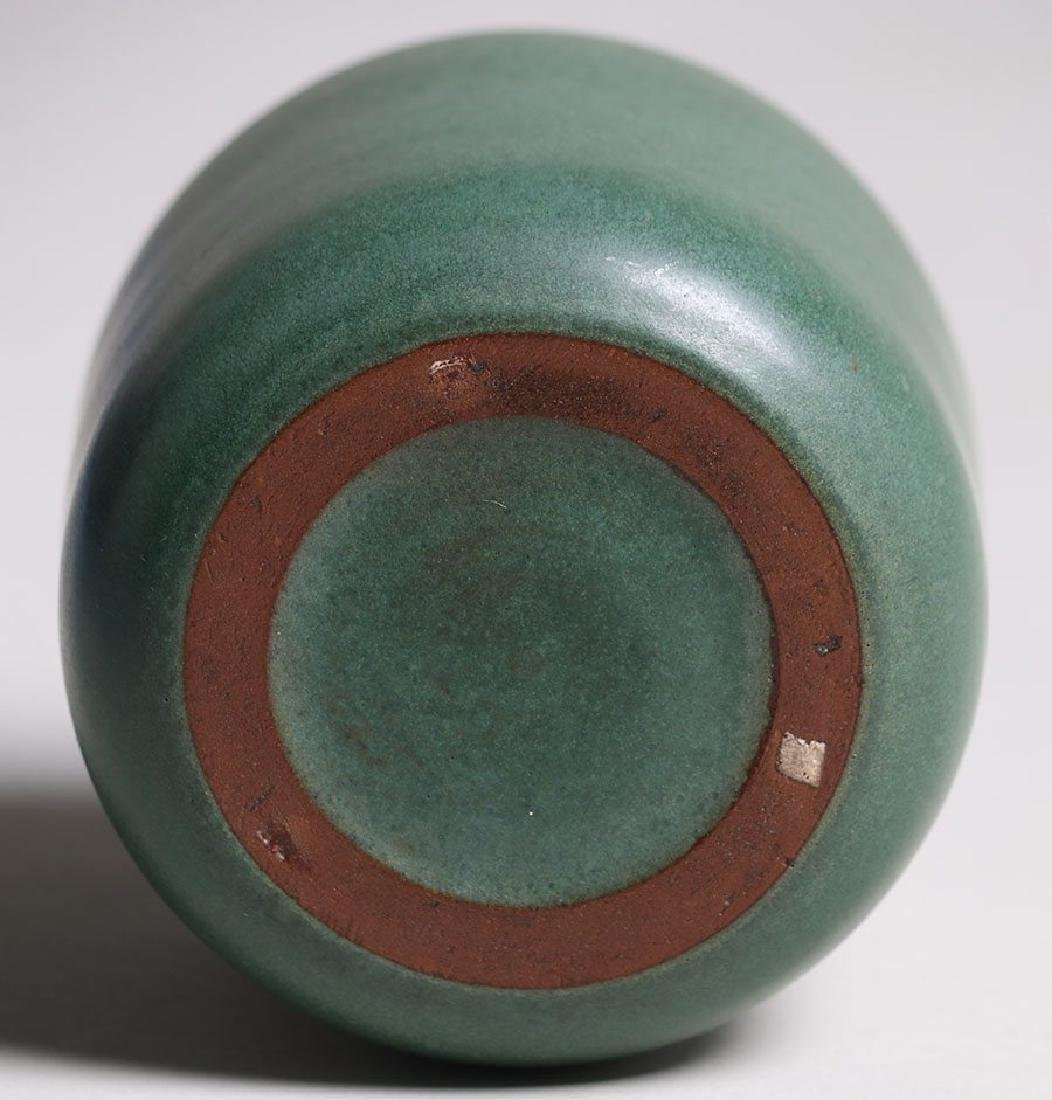 Marblehead Pottery Matte Green Cylinder Vase - 3