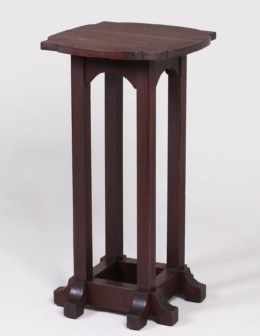 Tobey Furniture Co (Chicago) Mahogany Plant Stand - 2