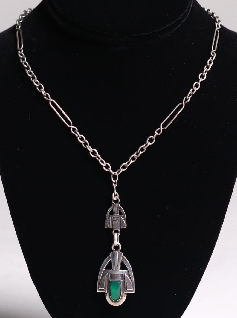 Chicago Arts & Crafts Sterling Silver Pendant Necklace - 2