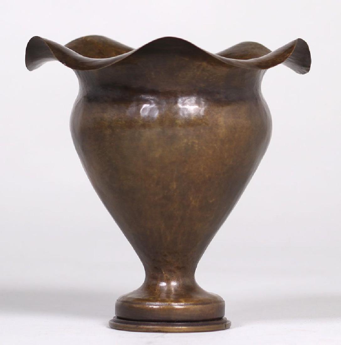 Dirk van Erp Hammered Brass Shell Casing Vase - 2