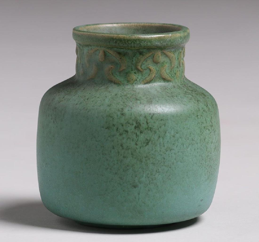 Van Briggle #696 Matte Green Vase