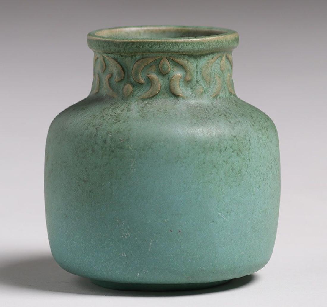 Van Briggle #696 Matte Green Vase - 2