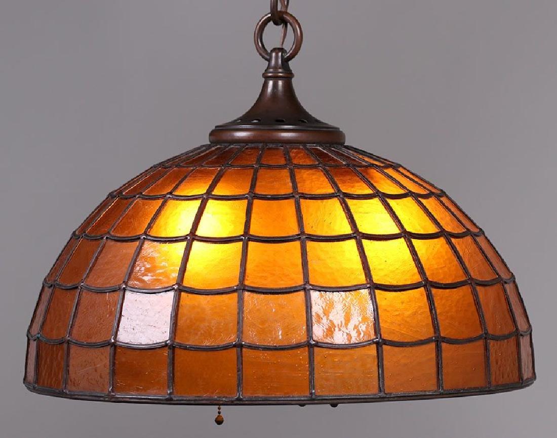 Handel Amber Glass Chandelier C1910