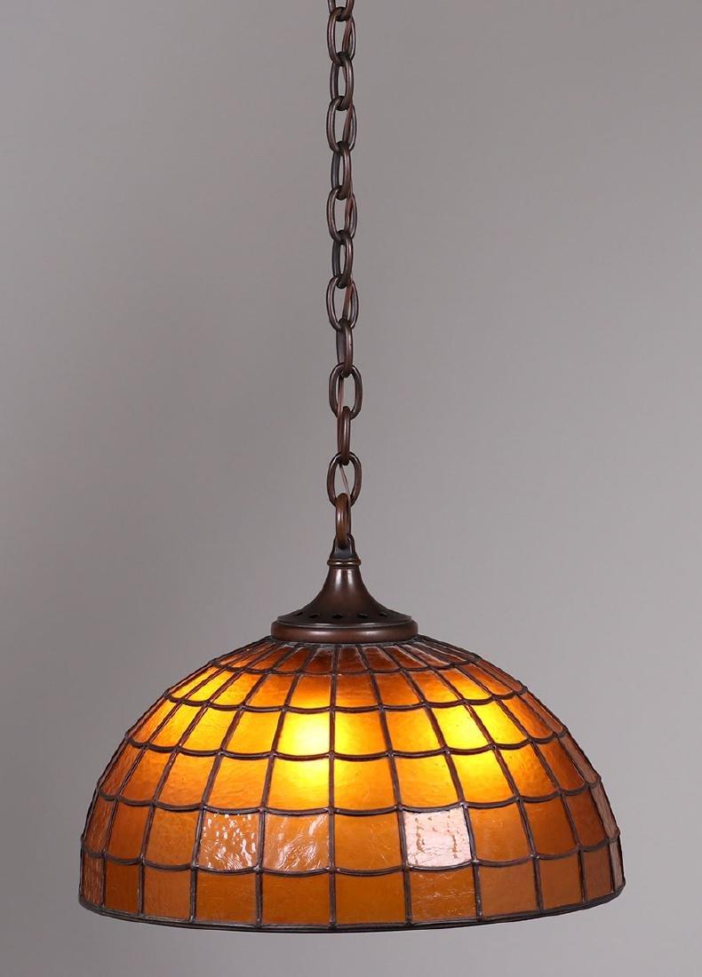 Handel Amber Glass Chandelier C1910 - 2