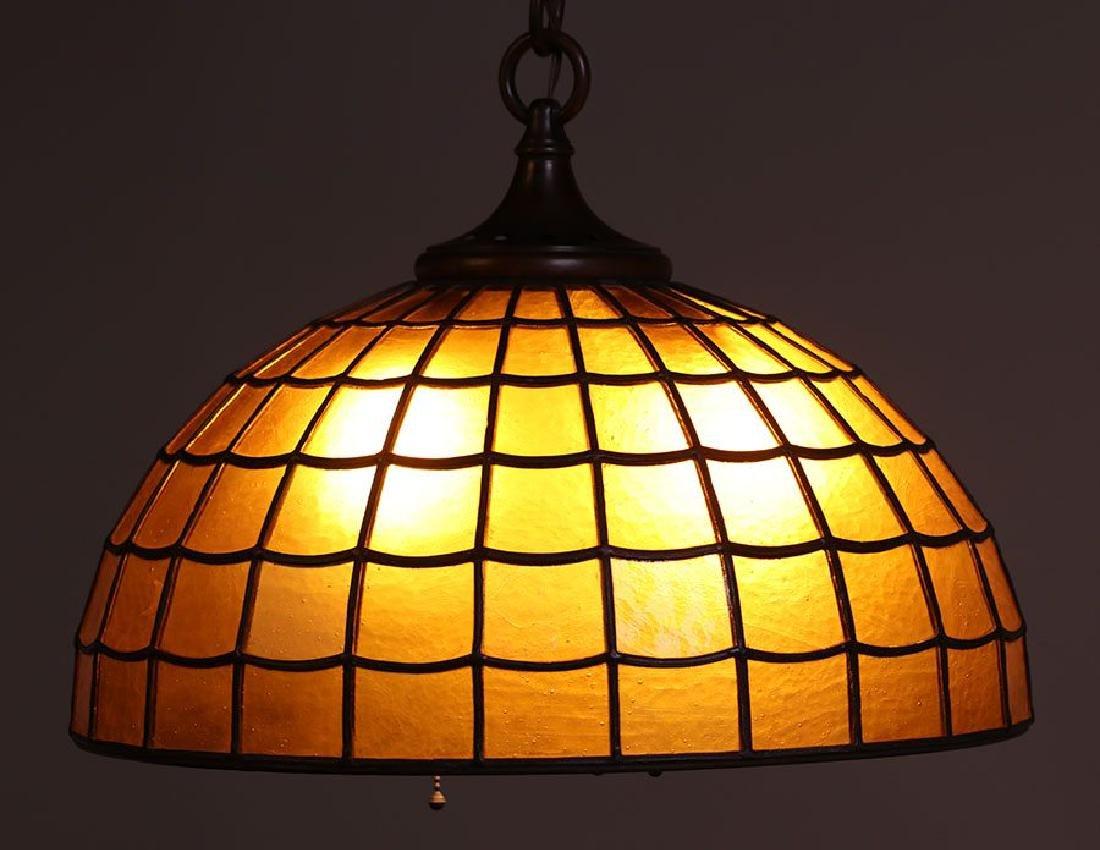 Handel Amber Glass Chandelier C1910 - 3