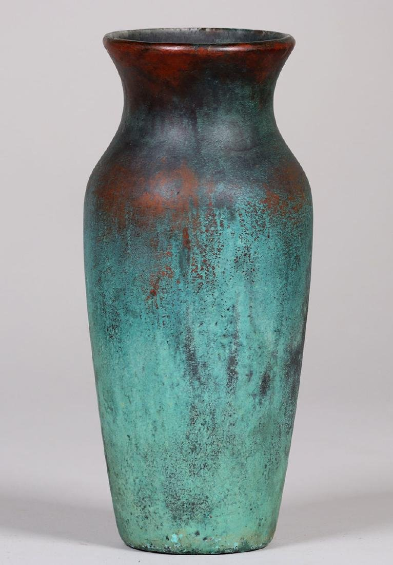 Clewell Copper-clad Pottery Baluster-shaped Vase
