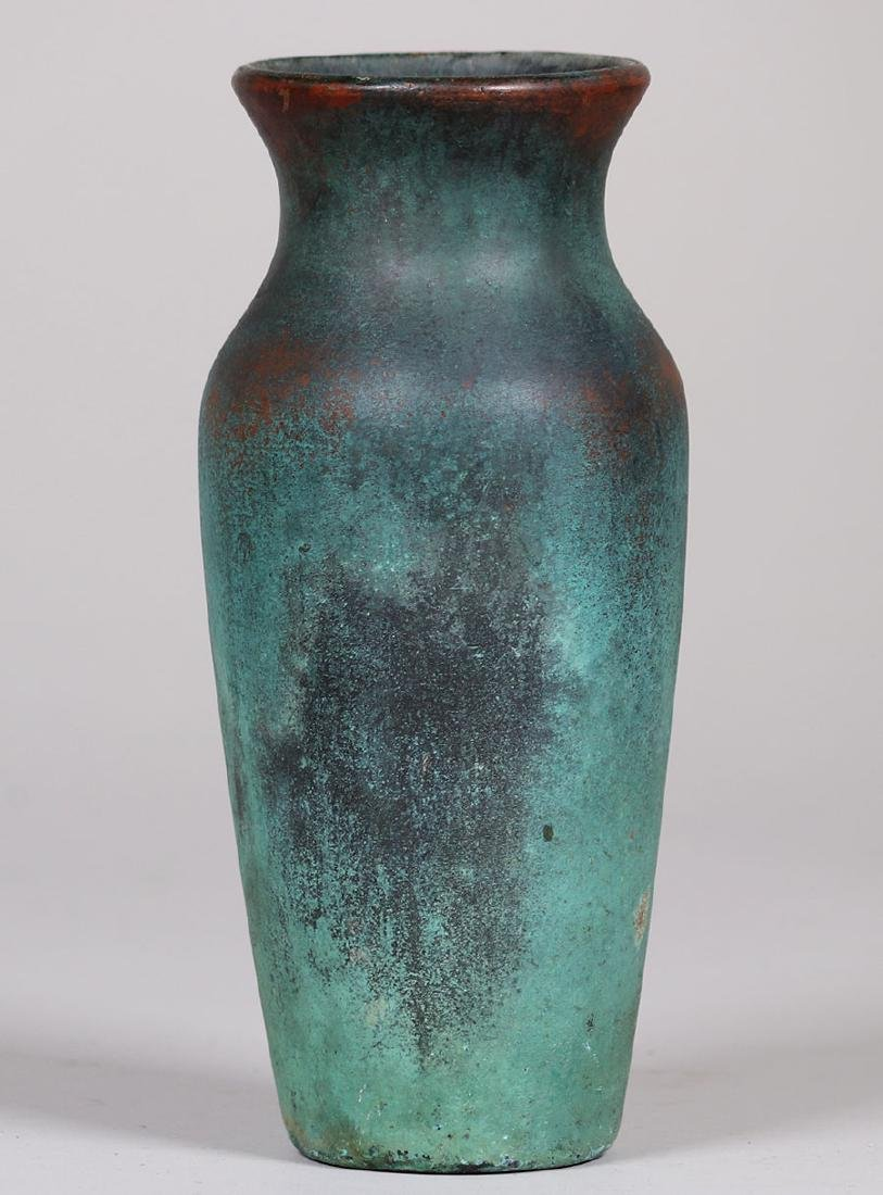 Clewell Copper-clad Pottery Baluster-shaped Vase - 2