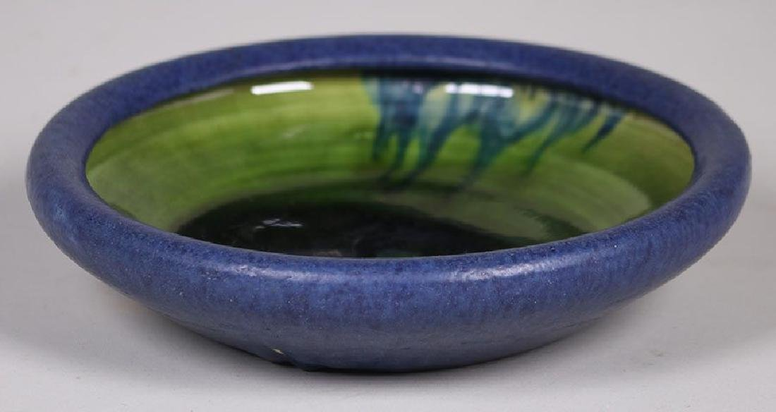 Grueby Pottery Matte Blue and Green Bowl - 2
