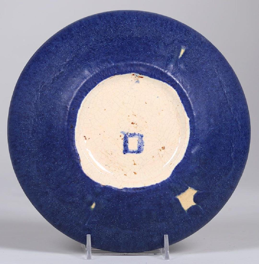 Grueby Pottery Matte Blue and Green Bowl - 3