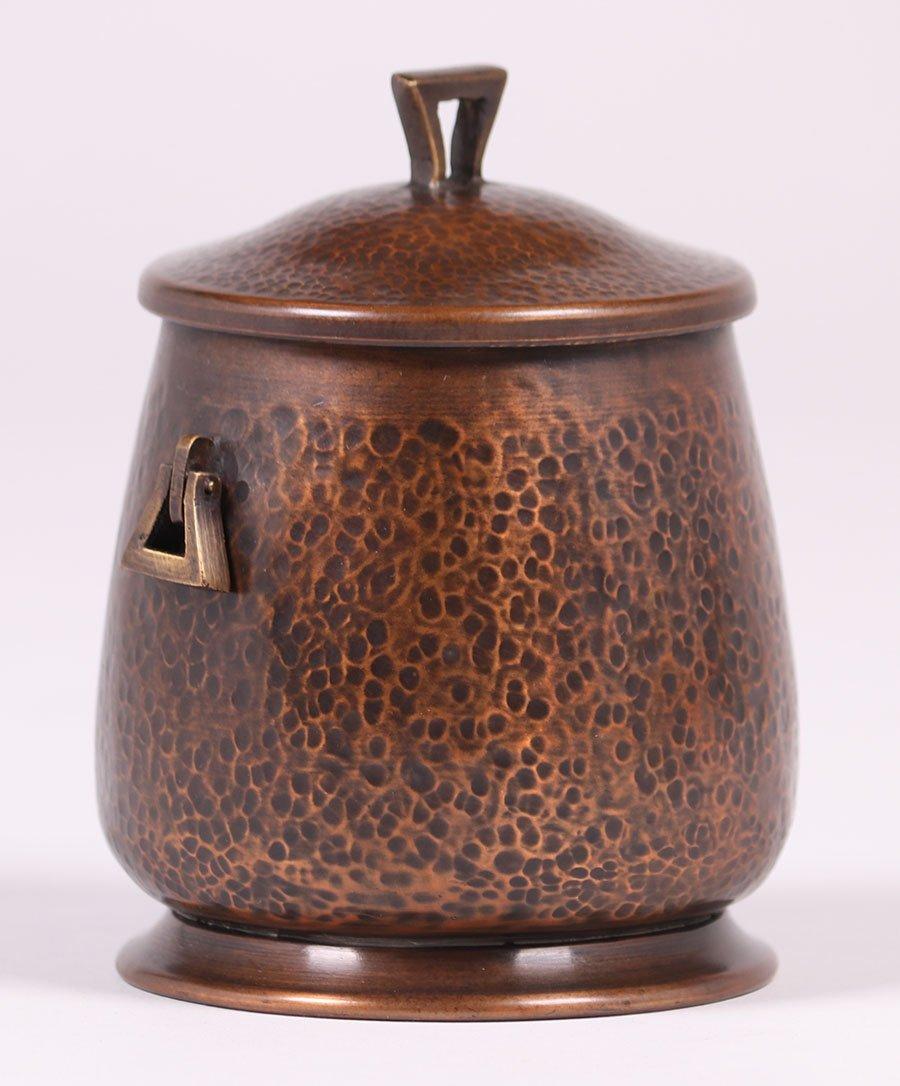 Arts & Crafts Hammered Copper Humidor