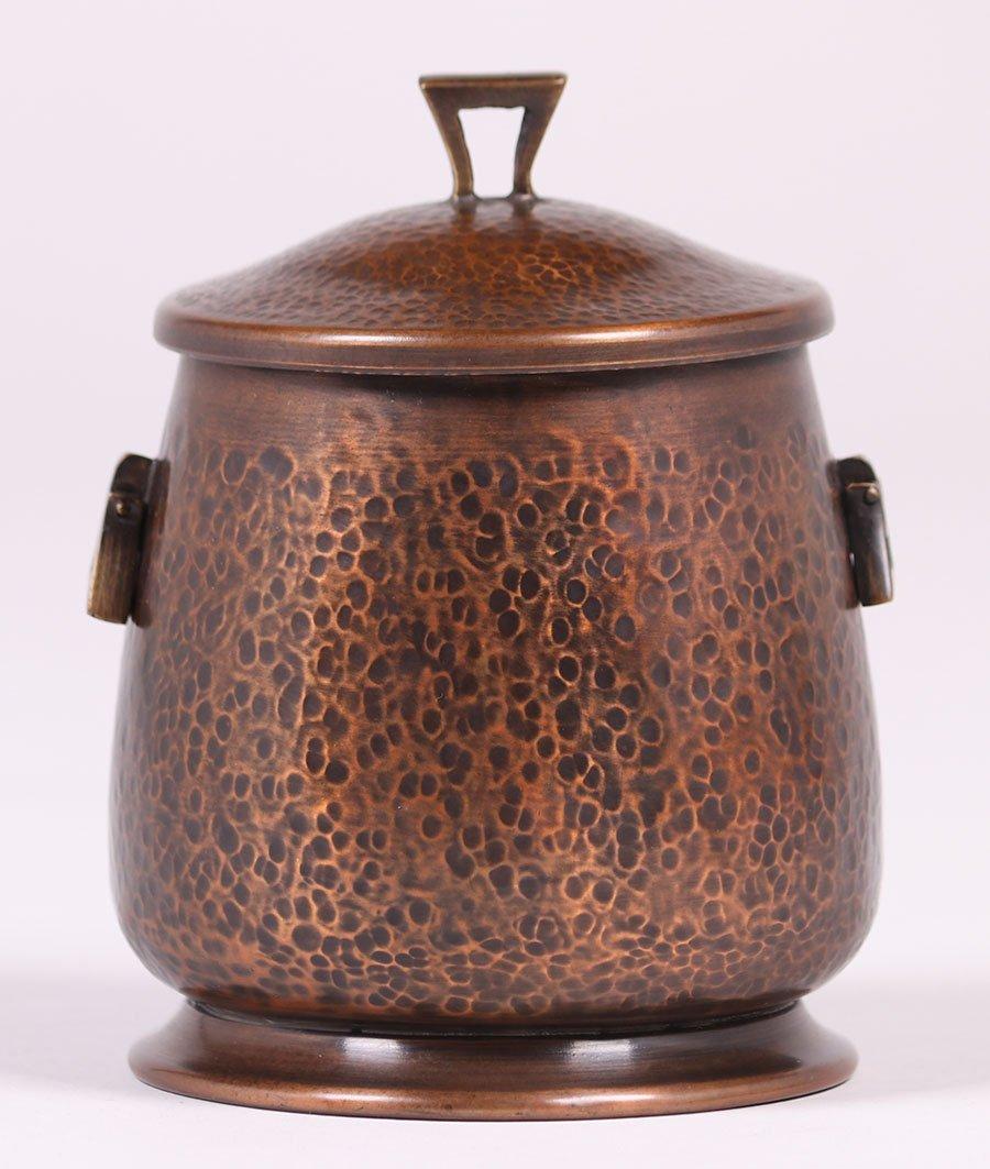 Arts & Crafts Hammered Copper Humidor - 2